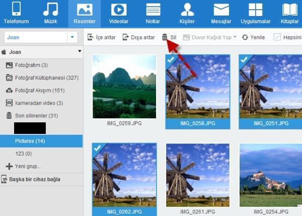 iPhone fotoğrafları silmek için ücretsiz bir uygulama kullan